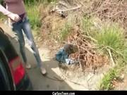 Photo femme nu en brousse