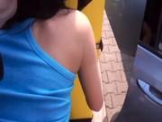 Femme nue en bas de nylon video